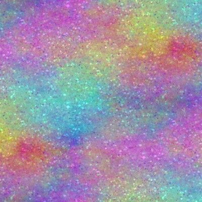 Faux Rainbow Glitter