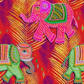 bohemian paradise elephant palms - red