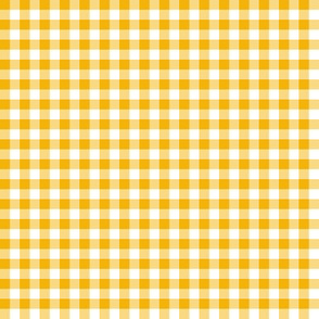1920s marigold yellow and white gingham