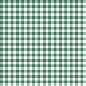 1930s soft green and white gingham