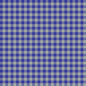 1920s blue and grey gingham