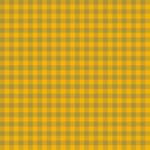 1920s yellow and bronze gingham