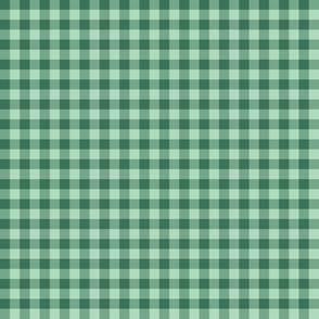 1930s mint and soft green gingham