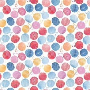 Yarn pattern watercolour smaller