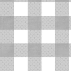 gingham: grey diamond