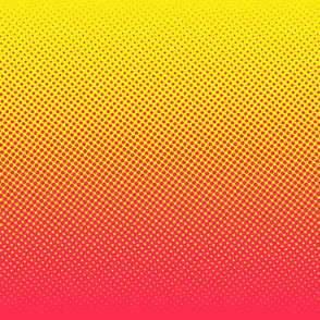 bright pink and yellow one-yard gradient
