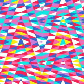 bright patchwork arrow