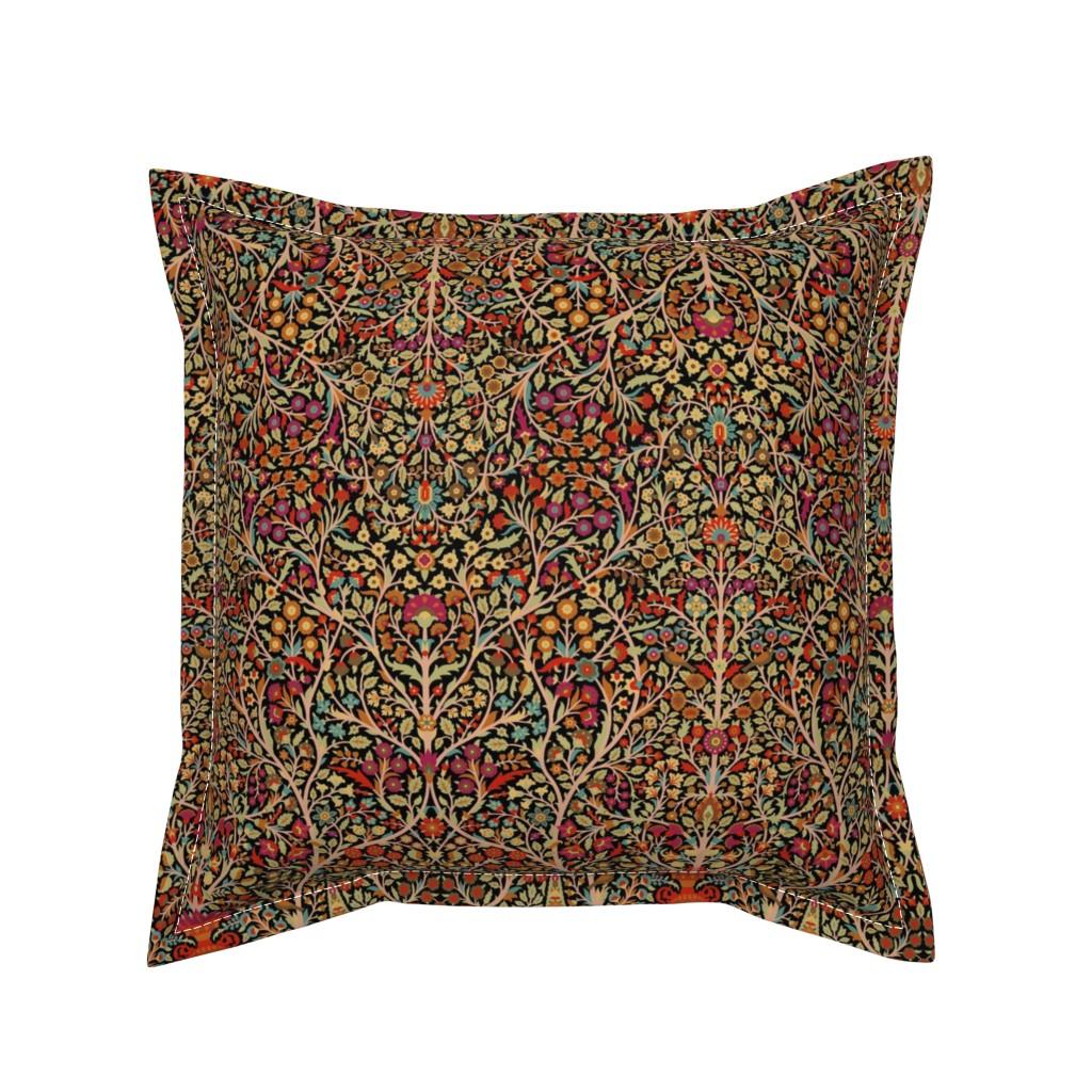 Serama Throw Pillow featuring Garden of Paradise 1j by muhlenkott