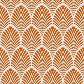 Deco Pattern burnt orange