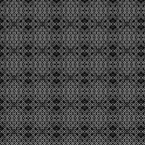 trellis black on white