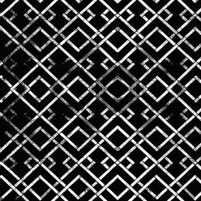 trellis side white on black