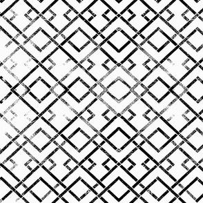 trellis side black on white