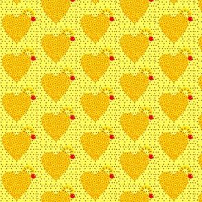 pineapple upside down heart