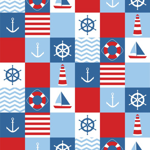 navy cheaters quilt