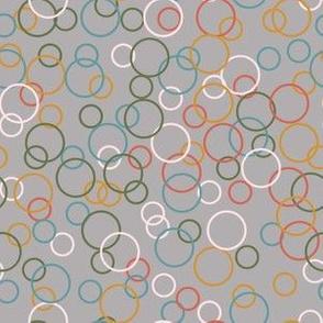 Upbeat Bubbles Light Grey Background