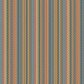 Multicolored Rickrack Grey Background
