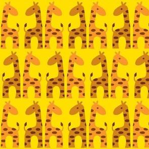 Giraffenatural on yellow