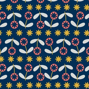 GROW - Small Blossoms Navy