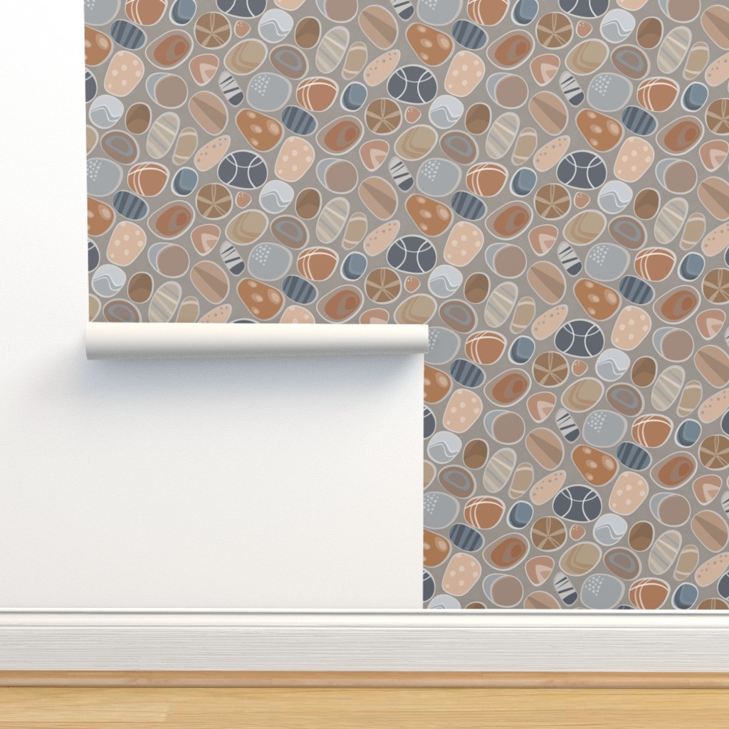 Isobar Durable Wallpaper featuring Seashore Pebbles by sarahparr