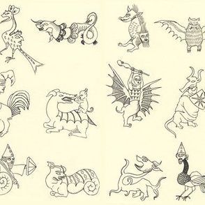 medieval monsters (horizontal)