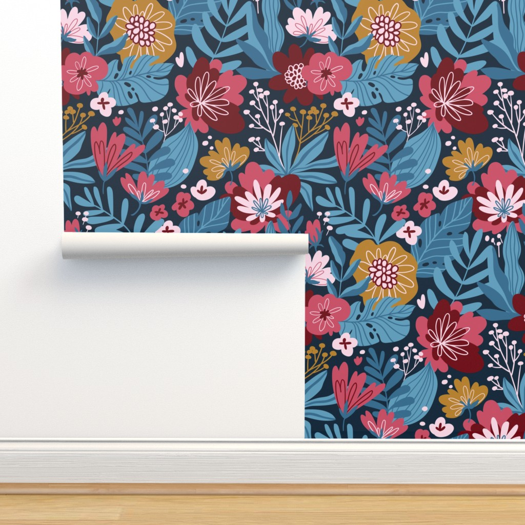 Isobar Durable Wallpaper featuring Moody flowers by alenkakarabanova