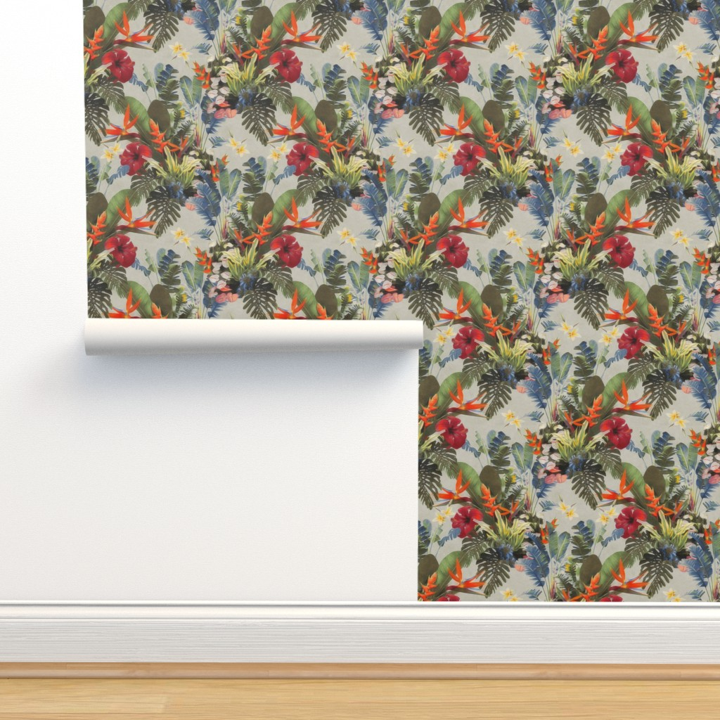 Isobar Durable Wallpaper featuring boho paradise light by dessineo