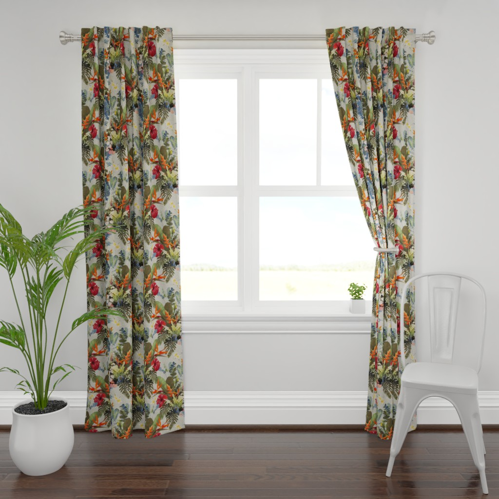 Plymouth Curtain Panel featuring boho paradise light by dessineo