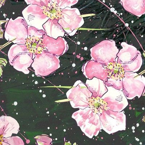 Allover Deep, Dark & Floral