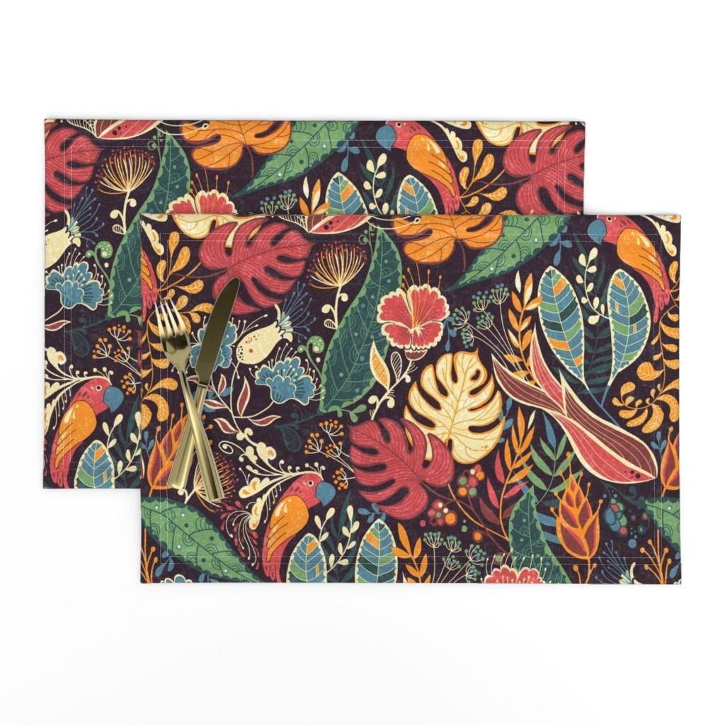 Lamona Cloth Placemats featuring bohoparadise by gaiamarfurt