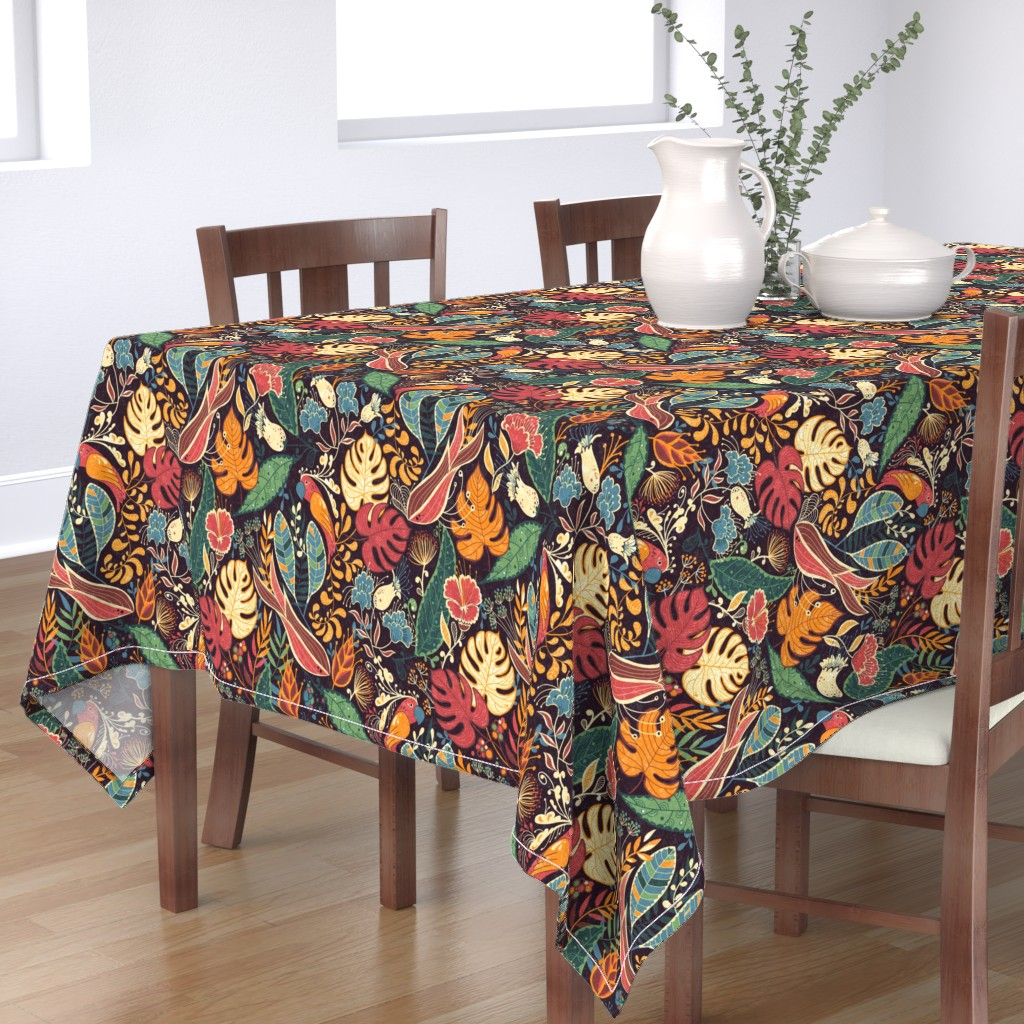 Bantam Rectangular Tablecloth featuring bohoparadise by gaiamarfurt
