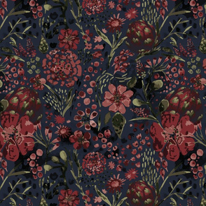 Moody Florals - by DEINKI