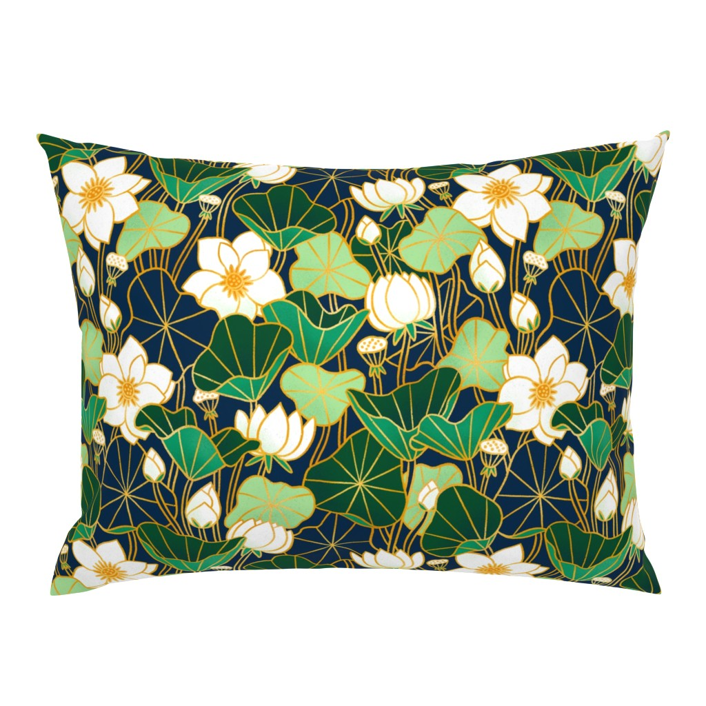 Campine Pillow Sham featuring Lily pond by stolenpencil