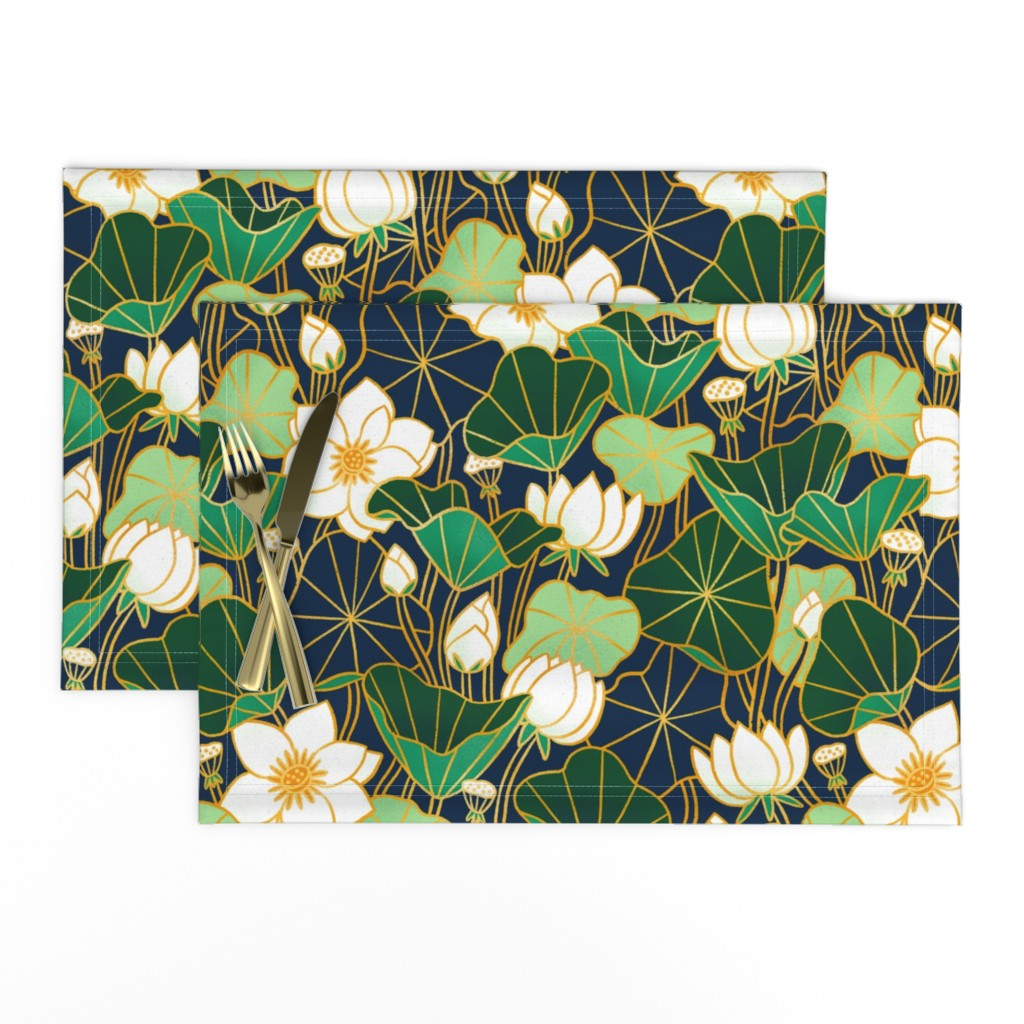 Lamona Cloth Placemats featuring Lily pond by stolenpencil