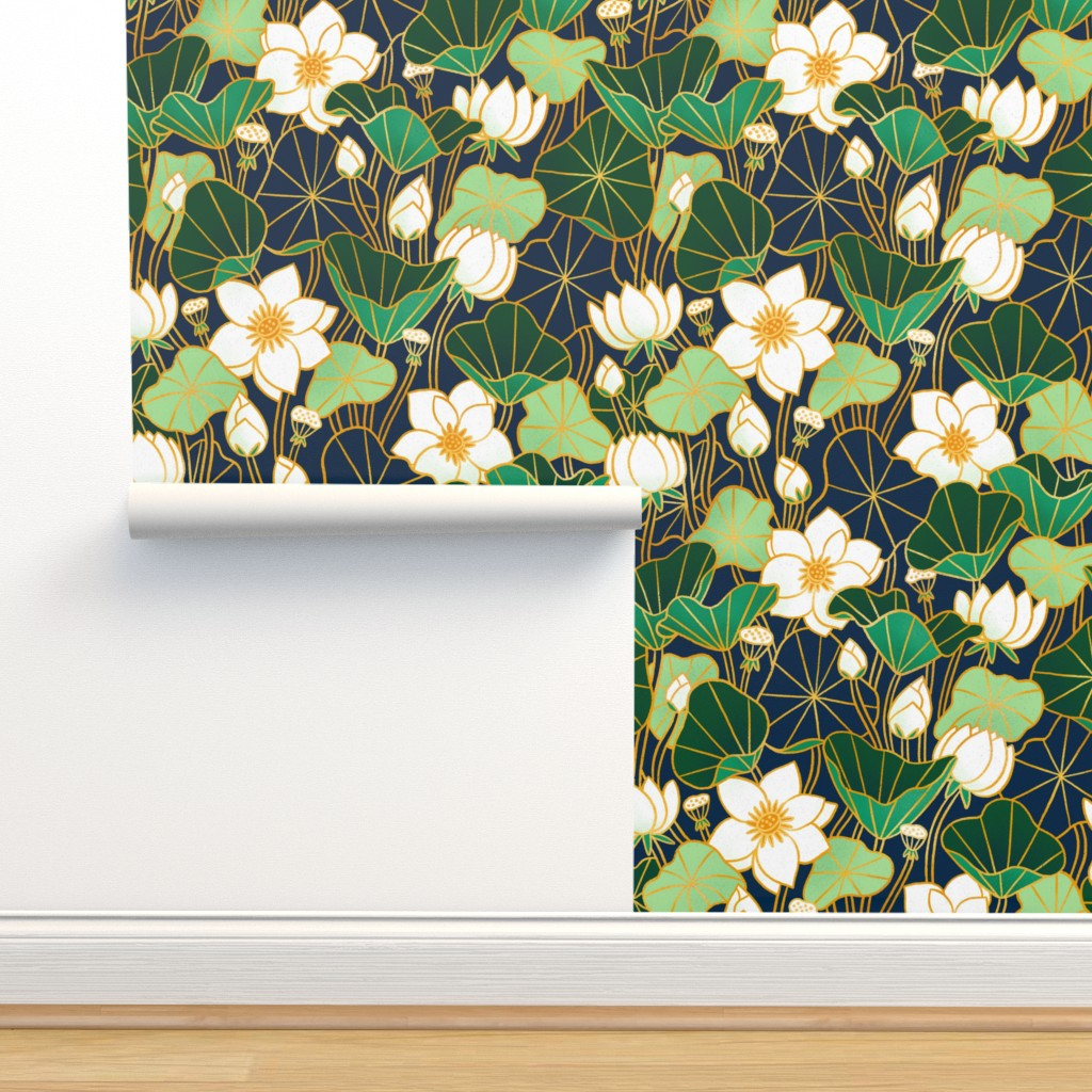 Isobar Durable Wallpaper featuring Lily pond by stolenpencil