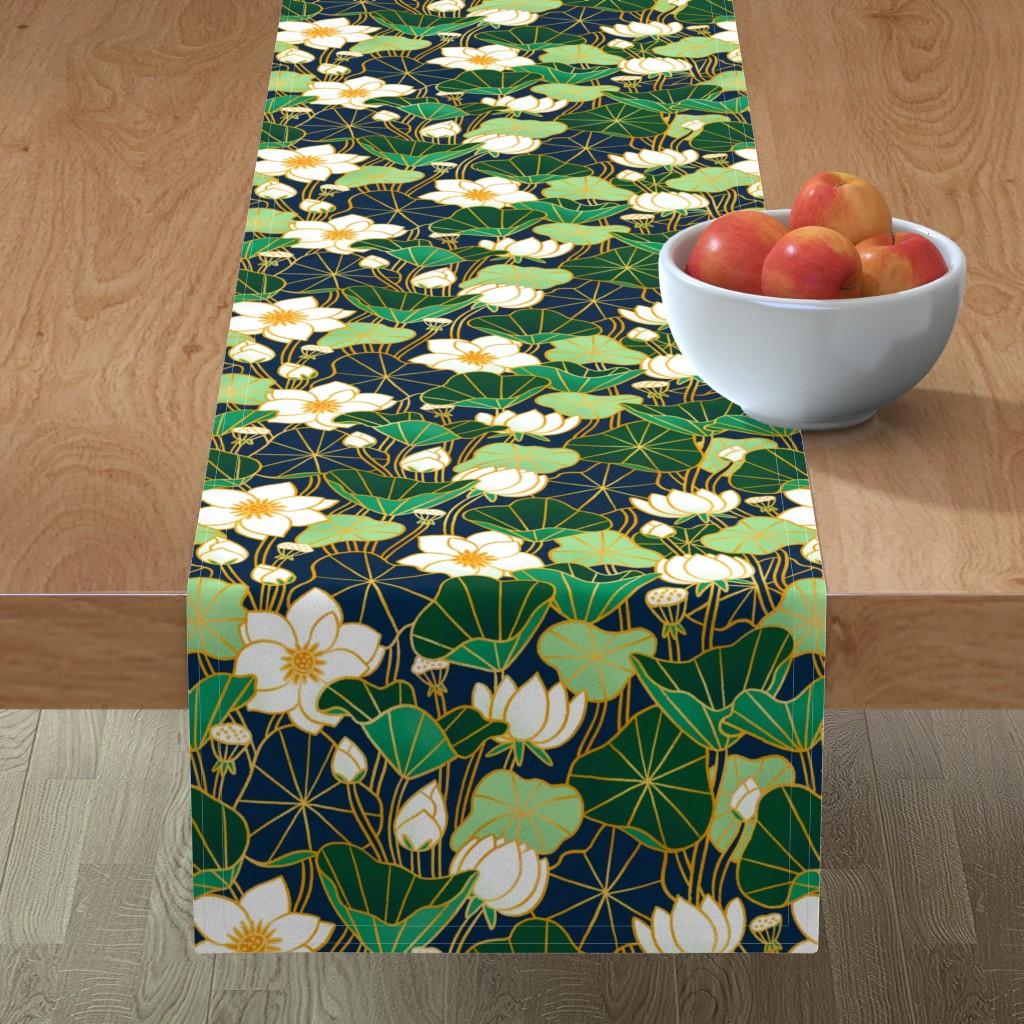 Minorca Table Runner featuring Lily pond by stolenpencil