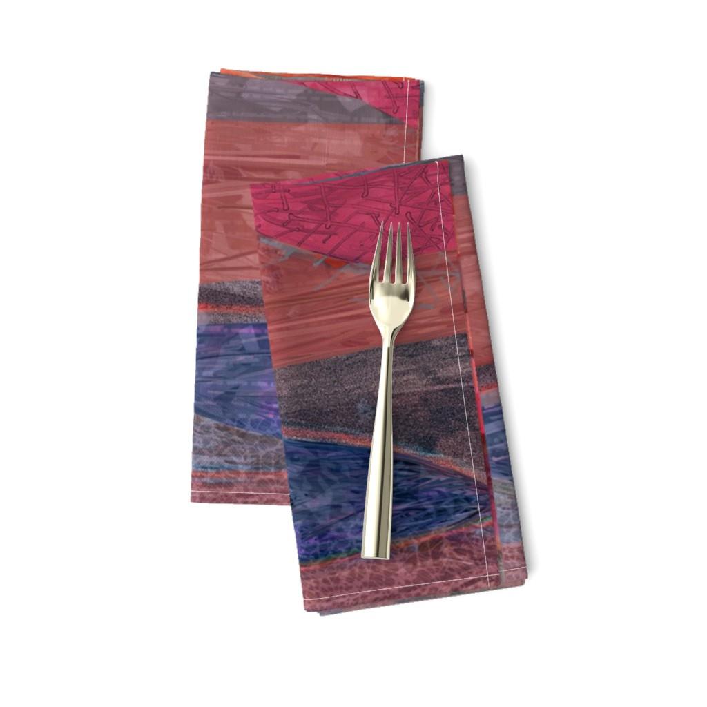 Amarela Dinner Napkins featuring southwest_coral_copper by wren_leyland