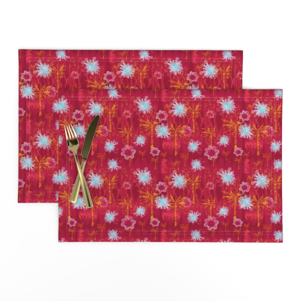 Lamona Cloth Placemats featuring Another Day in Paradise  by gargoylesentry
