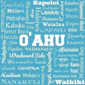 Places of O'ahu, Hawaii, aqua