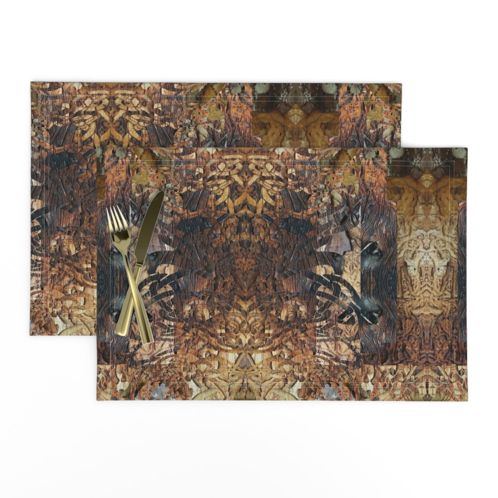 Lamona Cloth Placemats featuring The Devils in the Details Too by lauradavisartstudio