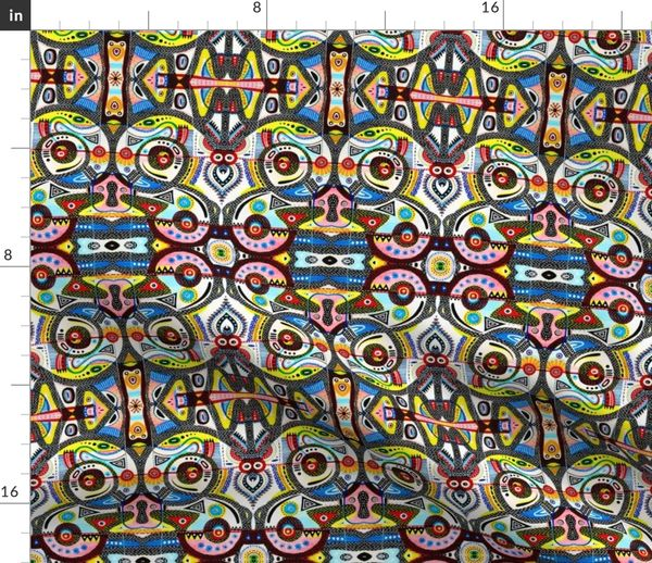 Fabric by the Yard Twirly Bird