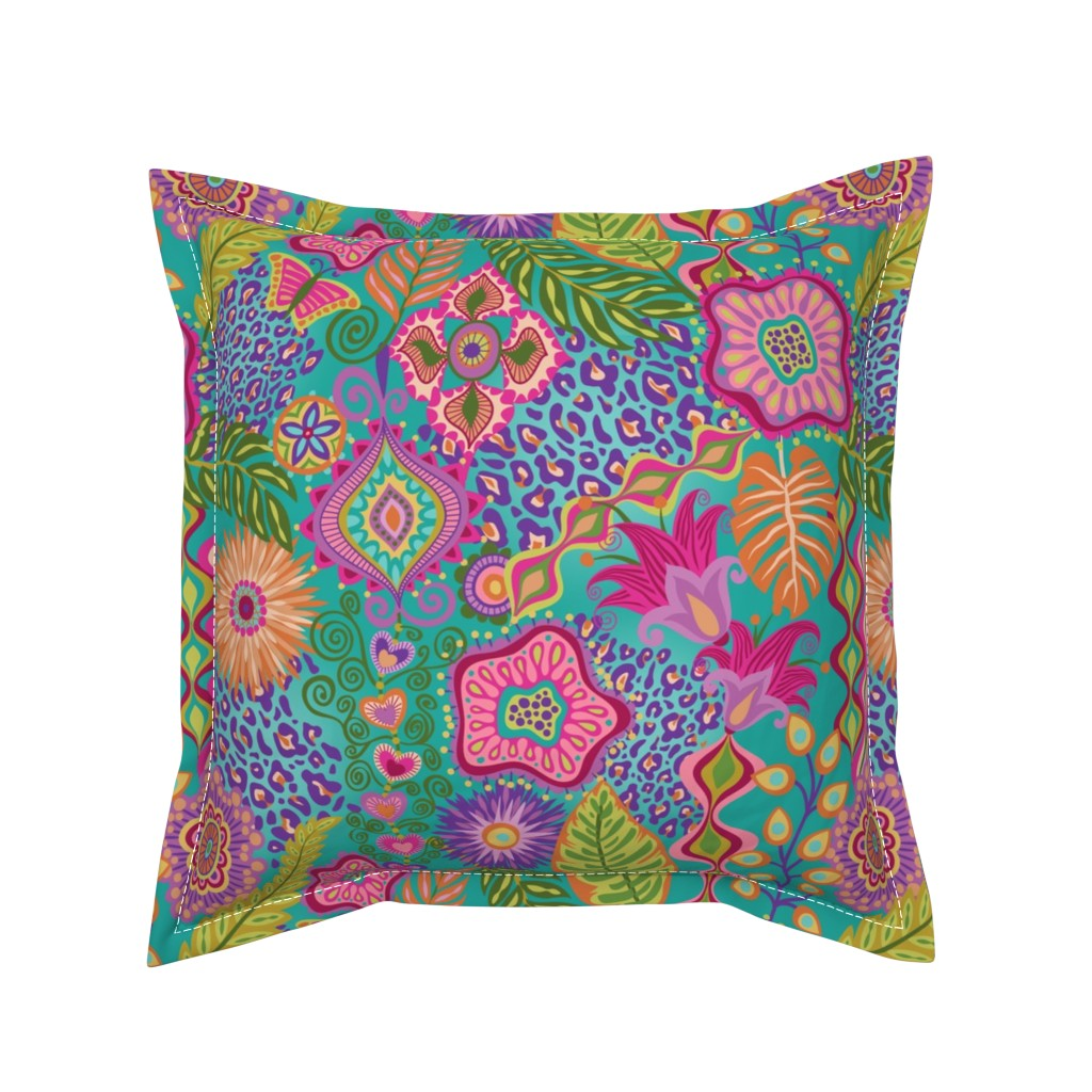 Serama Throw Pillow featuring Bohemian Rhapsody by groovity