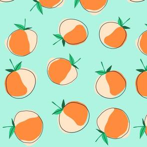 Jumbo Peach Polka Dots
