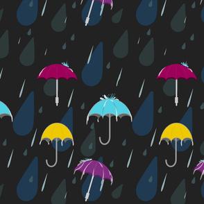 Umbrellas and Rain