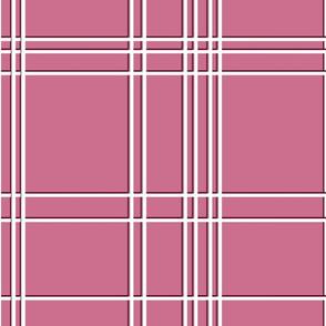 Christmas checks - dusty pink