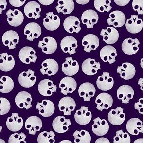 Skulls tossed - purple