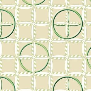 Hoops in Green Wheat