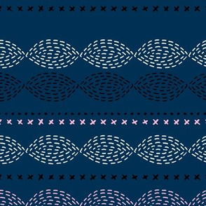 Minimal mudcloth bohemian mayan abstract indian summer aztec design winter navy blue pink