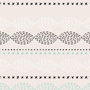 Minimal mudcloth bohemian mayan abstract indian summer aztec design summer mint beige