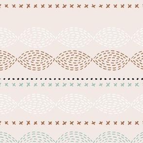 Minimal mudcloth bohemian mayan abstract indian summer aztec design summer copper mint