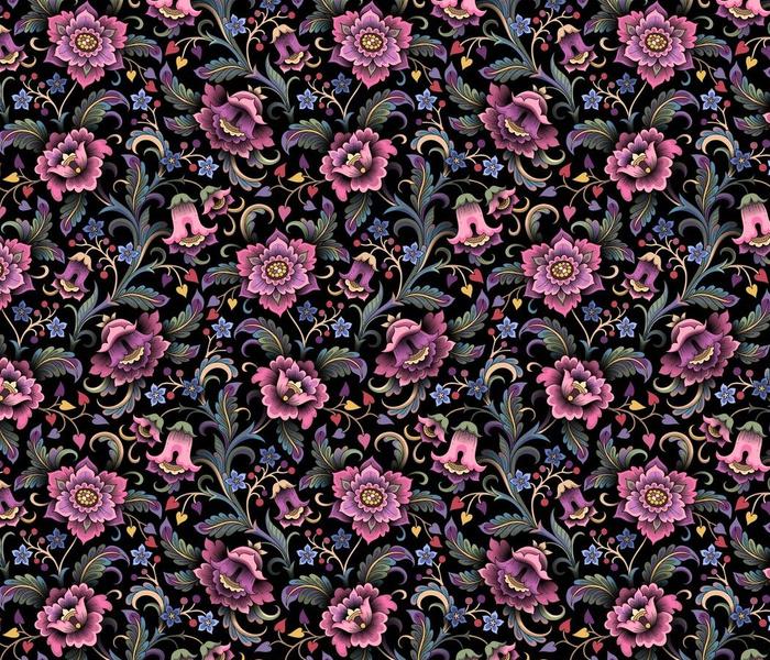 Moody floral garden medium
